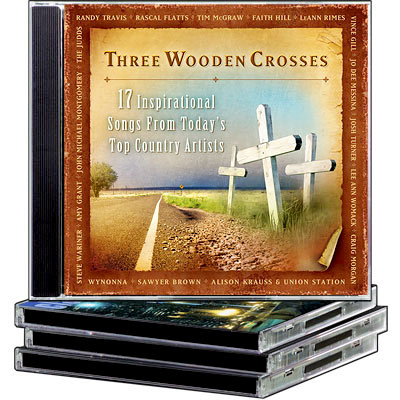 THREE WOODEN CROSSES BY TIME LIFE