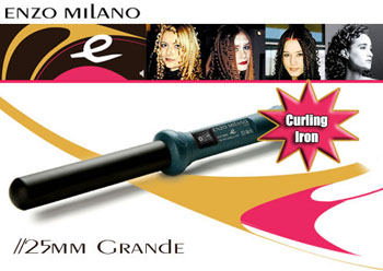 ENZO MILANO 25MM CURLING IRON