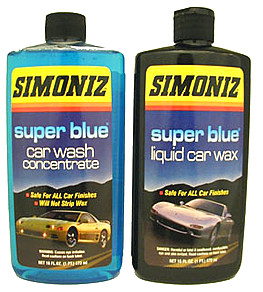 SIMONIZ SUPER BLUE 16OZ LIQUID WAX AND WASH