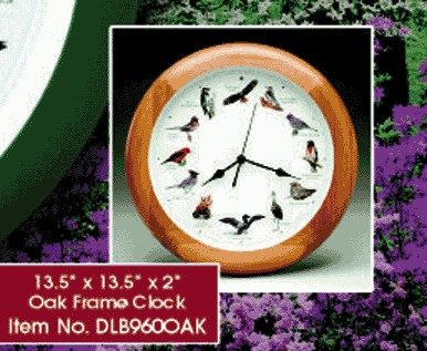 SINGING BIRD CLOCK - OAK